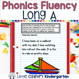 Reading Fluency Passages: Phonics Month of Long Vowel A: A_E, AY, AI