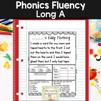 Reading Fluency Passages: Phonics Month of Long Vowel A: A_E, AY, AI