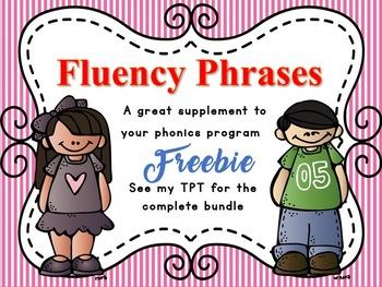 Phonics Fluency Phrases FREEBIE