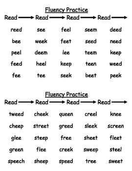 Phonics Fluency Practice