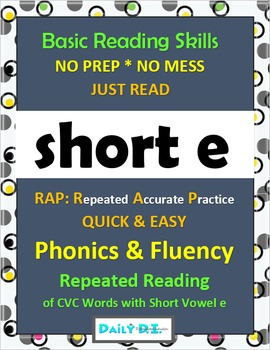 Phonics & Fluency Practice RAP Short e: Repeated Reading o