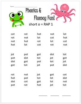 Phonics & Fluency Practice RAP Short o: Repeated Reading of CVC Words