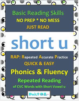 Phonics & Fluency Practice RAP Short u: Repeated Reading of CVC Words