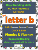 Phonics & Fluency Practice RAP The Letter b: Repeated Reading of Words