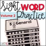 Sight Words Practice Flip Book- Volume 2