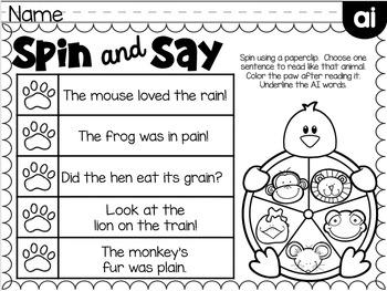 Phonics Fluency Printables ~ Long Vowels