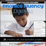 Digraphs Worksheets Phonics Fluency Passages Reading Compr