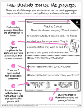 Phonics Fluency Reading Comprehension Passages and Questions • Hard/Soft C and G