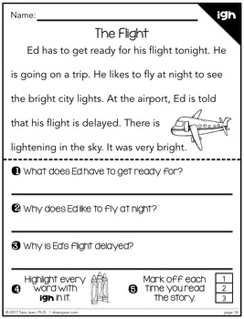 Phonics Fluency Reading Comprehension Passages and Questions • Long Vowels