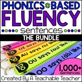Phonics Fluency Sentences BUNDLE