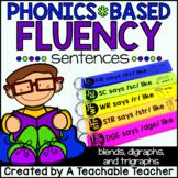 Phonics Fluency Sentences - Blends and Digraphs Edition