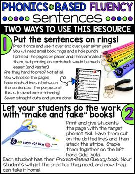 Phonics Fluency Sentences - Diphthongs & R-Controlled Vowels