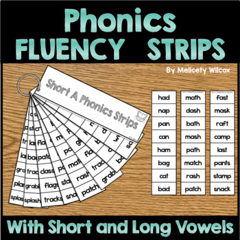 Phonics Fluency Strips Vowels Blends Digraphs Inflectional Endings