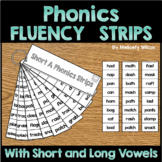 Phonics Fluency Strips Short Long Vowels Blends Digraphs I