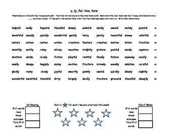 Phonics Fluency - /er/, suffixes, prefixes, /au/