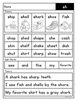 Phonics Fluency with Comprehension Digraphs