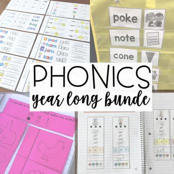 Kindergarten Phonics Year Long Bundle