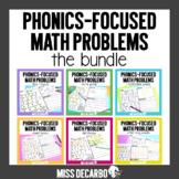 Phonics Focused Math Word Problems BUNDLE