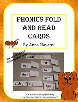 Phonics Fold and Read Cards