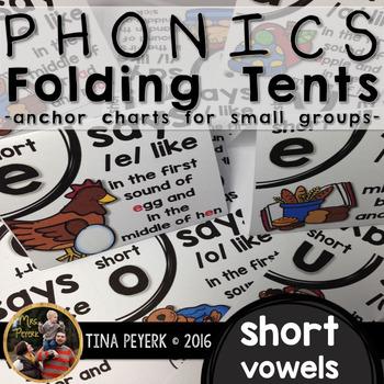 Phonics Folding Tents: Short Vowel Anchor Tents
