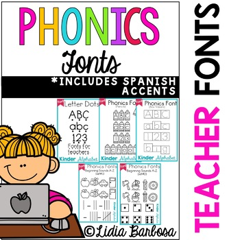 Phonics Fonts for Teachers { Commercial License }