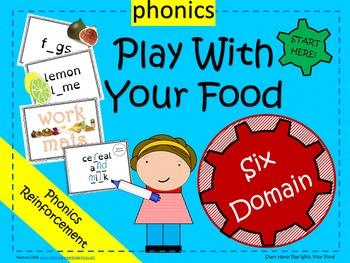 Phonics - food theme work/snack mats - 60 mats