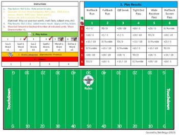 Phonics Football:  Practice Sessions and Game
