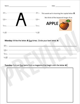 Phonics Foundations Homework Practice - Capital Letters