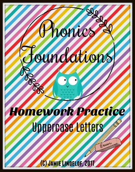 Phonics Foundations Homework Practice - Capital Letters