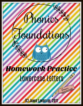 Phonics Foundations Homework Practice - Lower-Case Letters