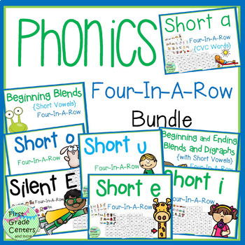 Phonics: Four in a Row Bundle