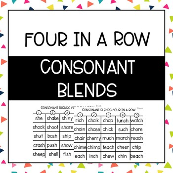 Phonics Four in a Row: H Blends