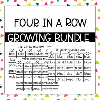 Phonics Four in a Row: The GROWING Bundle!