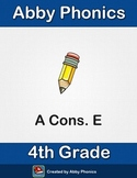 Phonics - Fourth Grade - A with Constants E Series