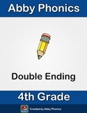 Phonics - Fourth Grade - Double Ending Words Series