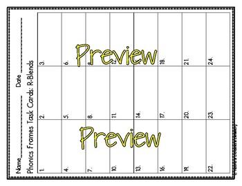 Phonics Frames Task Cards- The Bundle