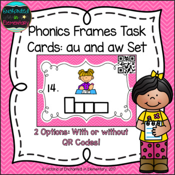 Phonics Frames Task Cards: Aw and au Set
