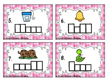 Phonics Frames Task Cards: Double Consonants Set