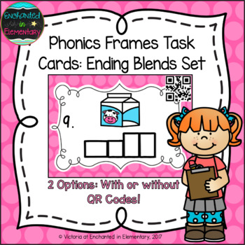 Phonics Frames Task Cards: Ending Blends Set