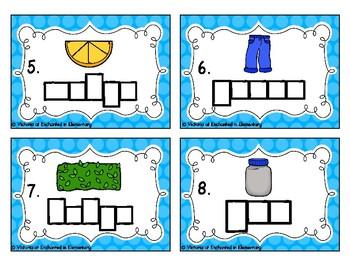 Phonics Frames Task Cards: G, J, and Dge Set