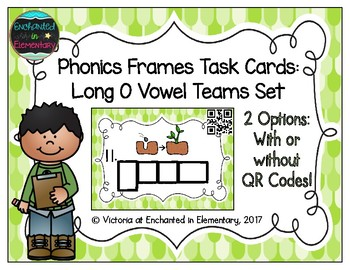 Phonics Frames Task Cards: Long O Vowel Teams Set