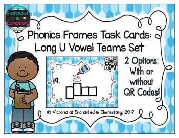 Phonics Frames Task Cards: Long U Vowel Teams Set