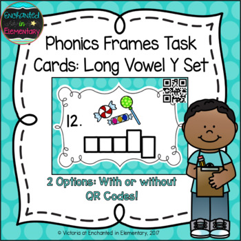 Phonics Frames Task Cards: Long Vowel Sounds of Y Set | TpT