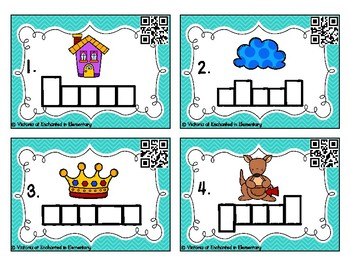 Phonics Frames Task Cards: Ow and ou Set