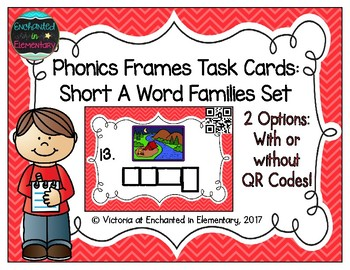 Phonics Frames Task Cards: Short a Word Families Set