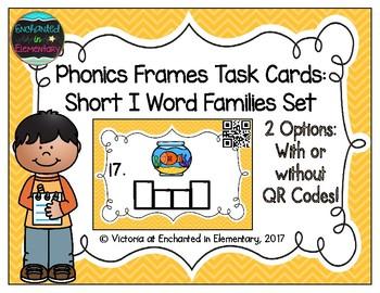Phonics Frames Task Cards: Short i Word Families Set