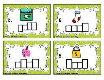 Phonics Frames Task Cards: Short o Word Families Set