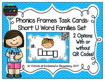 Phonics Frames Task Cards: Short u Word Families Set