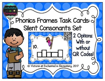 Phonics Frames Task Cards: Silent Consonants Set