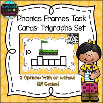 Phonics Frames Task Cards: Trigraphs Set
